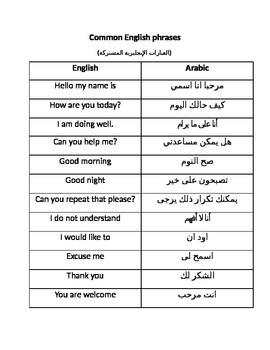 English to Arabic phrases