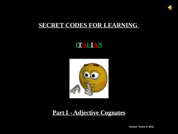 ITALIAN COGNATES 101-ADJECTIVES