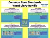 English/Language Arts Common Core Standards Vocabulary Bundle