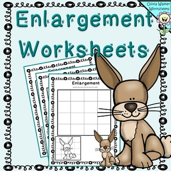 Enlargement Worksheets / Scaling Pictures / Growing Images
