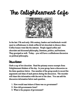 Enlightenment Cafe Simulation