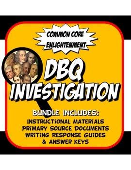 DBQ Enlightenment Common Core Document Based Question Activity