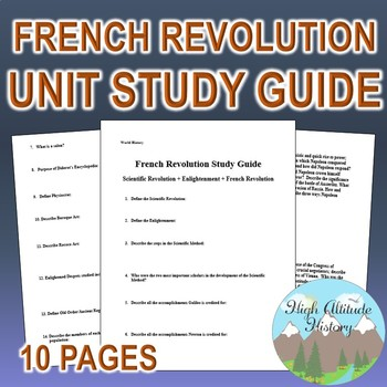 Enlightenment & French Revolution Unit Study Guide (World