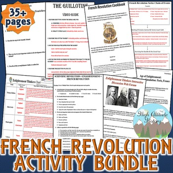 French Revolution Activity *Bundle* Enlightenment & French
