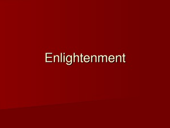 Enlightenment Period Lesson