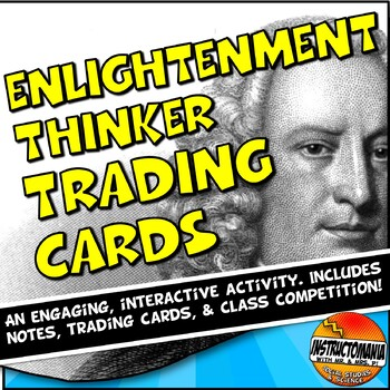 Enlightenment Trading Card Activity Powerpoint and Trading