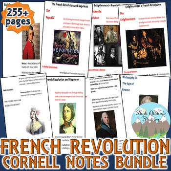 Enlightenment and French Revolution Cornell Notes *Bundle*
