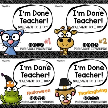 Early Finishers Enrichment Activities: I'm Done Teacher!