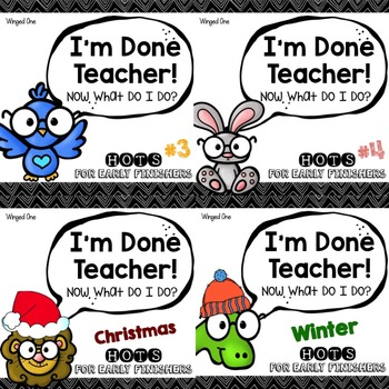 Early Finisher Enrichment Activities: I'm Done Teacher! BU