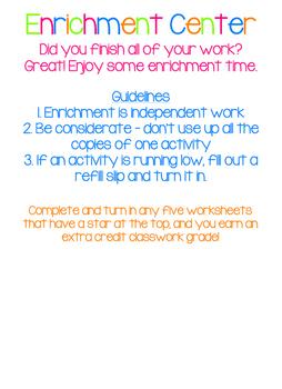 Enrichment Poster