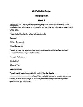 Enrichment Project Descriptions
