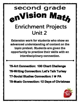 Enrichment Project Packet Unit 2 enVision Math 2nd Grade
