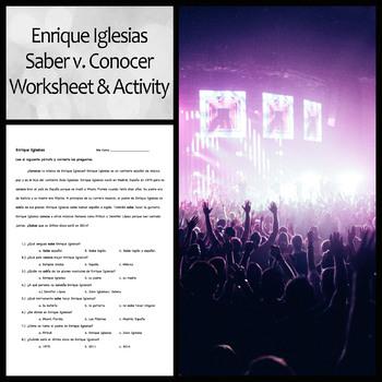 Enrique Iglesias Saber/Conocer Practice