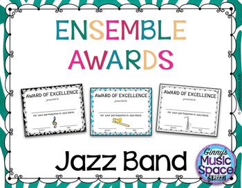Ensemble Awards {Jazz Band}