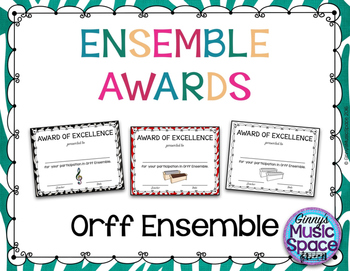 Ensemble Awards {Orff Ensemble}