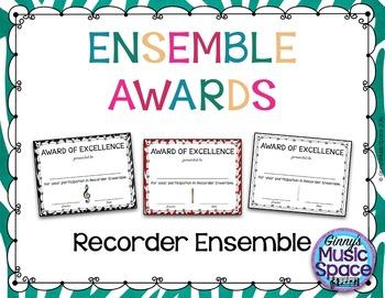 Ensemble Awards {Recorder Ensemble}