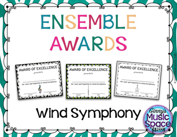 Ensemble Awards {Wind Symphony}