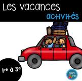 Ensemble d'activités Fin d'année/ End of the year french a