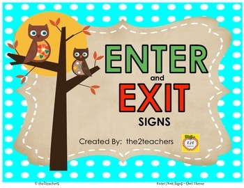 Enter and Exit Signs - FREE