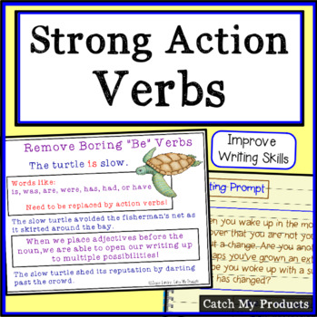 Entering a Story Writing Prompt to Encourage Strong Verbs