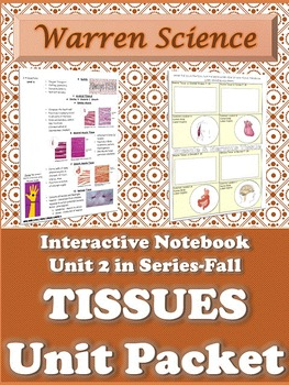 Interactive Notebook Unit Packet: Histology (Tissues)-Unit