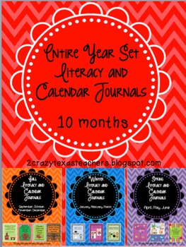 Entire Year Set: Literacy and Calendar Journals