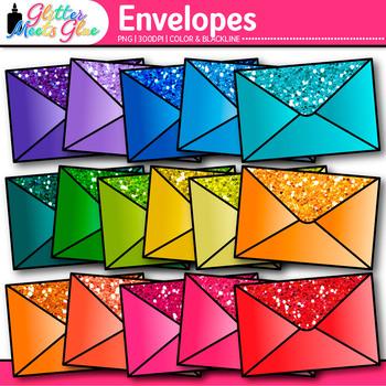 Rainbow Envelope Clip Art {Post Office Graphics for Commun