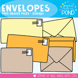 Envelopes - Clipart + Line Art - Commercial and Classroom Use