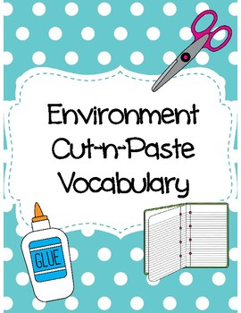 Environment Cut-n-Paste Vocabulary