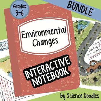 Environmental Changes Interactive Notebook BUNDLE by Scien