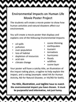Environmental Impact Movie Poster Project
