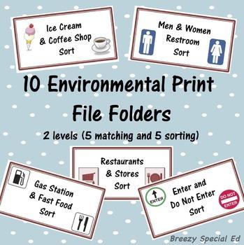 Environmental Print / Community Signs File Folders