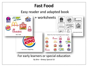 Environmental Print: Fast Food adapted book