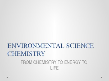 Environmental Science Chemistry Power Point