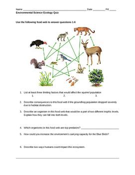 Environmental Science Ecology Quiz