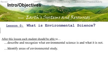 Environmental Science Unit 1 Lesson 1: Introduction