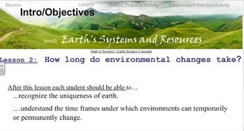 Environmental Science Unit 1 Lesson 2 Time & Change