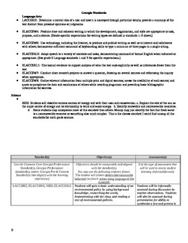 Environmental Science and Language Arts Research Policy As