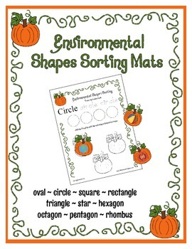 Environmental Shape Sorting Mats ~ Pumpkins ~ Halloween Th