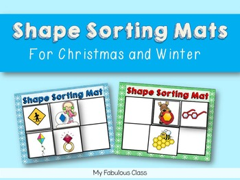 Environmental Shape Sorting Mats for Christmas and Winter