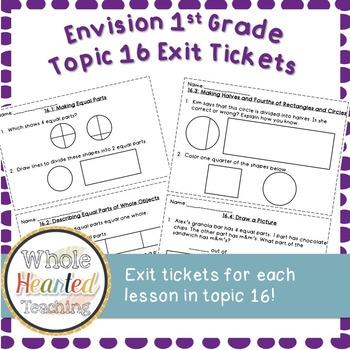 Envision Math 1st Grade Topic 16