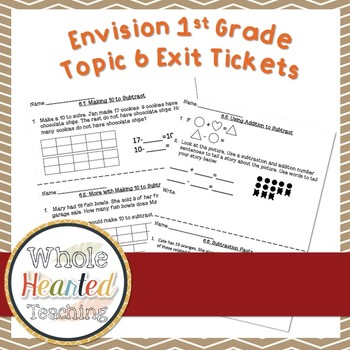Envision Math 1st Grade Topic 6