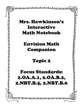 Envision Math 2nd Grade Topic 2 Interactive Notebook