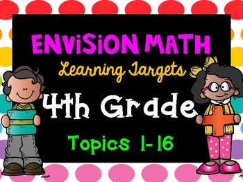 Envision Math Learning Targets: 4th Grade