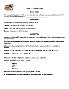 Envision Math Topic 8 Study Guide
