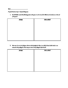 Envision Topic 8 Extended Response Questions Grade 2