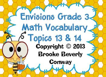 Envisions Grade 3 Topic 13 & 14 Vocabulary