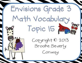 Envisions Grade 3 Topic 15 Vocabulary