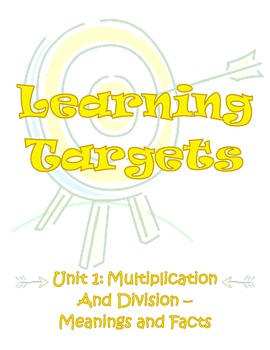 Envisions Learning Targets/I Can Statements (Units 1-8)