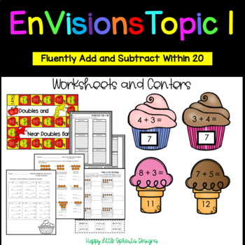 Envisions Topic 1 Add and Subtract Within 20 Grade 2 CCSS
